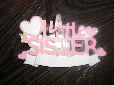 Family Little SISTER Personalized Christmas Tree Ornament ()