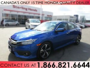 2016 Honda Civic TOURING | TURBO | NAVIGATION | 1 OWNER | NO ACC
