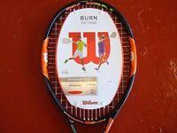 Wilson Burn 100 Team Brand New Tennis Racket with labels.