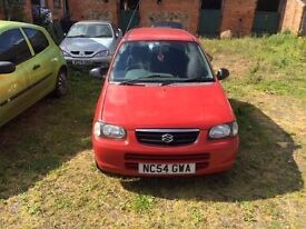 SUZUKI ALTO, RED, 2004, 5 DOOR, 1 LITRE, 12 MONTHS MOT, PETROL, MANUAL.