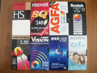 VHS Video - used blank tapes in good condition