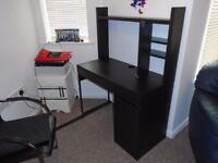 IKEA MICKE COMPUTER OR WORK DESK IN BLACK
