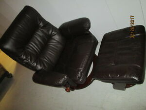 recliner leather brown/fauteuil inclinable cuir