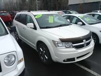 2010 Dodge Journey R/T BLANC AWD VUS CUIR GRIS UCONNECT 7 PASS