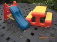 Little Tikes Dolls House Slide and Picnic Bench
