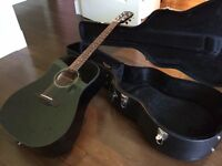Fender CD-60 Acoustic Guitar with Hard Case- Used 3 or 4 times