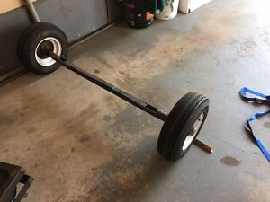 trailer axel (1000 lbs )with wheels