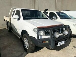 2009 Nissan Navara D40 RX (4x4) White 6 Speed Manual King Cab Chassis