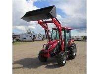 New 2015 TYM T554 - 55 HP Ranch Tractor w. CAB & Front Loader