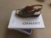Brand new unused Damart cushion air leather sandals Size 3