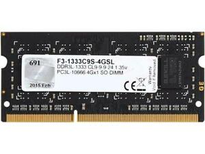 G.SKILL 4GB 204-Pin DDR3 1066 (PC3 8500) $50