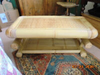 Bamboo Coffee Table as new