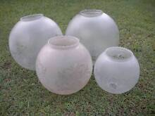 Old Decorative Glass Light Shades Big Medium & Small $18 - $35ea. Albion Brisbane North East Preview