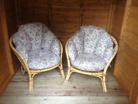 CANE FLORAL CONSERVATORY / SUMMER HOUSE CHAIRS