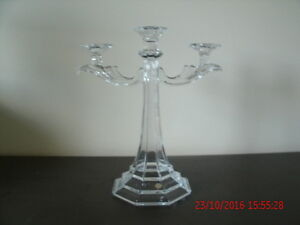 Beautiful Large 24% Bohemian Crystal Candelabra