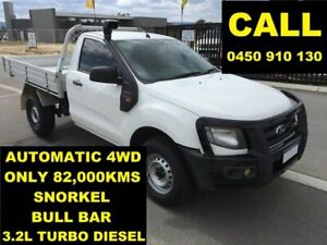 2012 Ford Ranger PX XL 3.2 (4x4) Cool White 6 Speed Automatic Cab Chassis Ellenbrook Swan Area Preview