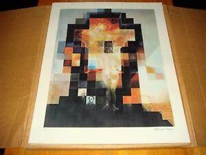 Salvador Dali Lincoln Vision Vintage A/P Lithograph Rare Find
