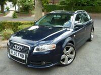 Audi A4 Avant S-Line, New MoT, 1 Owner, Sun roof, Tow bar, CD changer, pearl blue, VGC