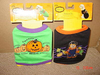 Xxs Puppy Halloween Costumes (2,New,Dog,Puppy,Costumes,Halloween,NWT,Unused,Size,XXS Scarecrow Pumpkin Pet)