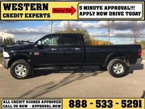 2012 Ram Laramie 3500 Long-box 4x4 LOADED Diesel 5 min Approval
