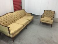 Beautiful vintage sofa set - free delivery!