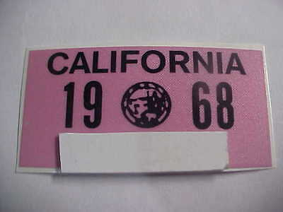 1968 california license plate registration yom sticker for the 1963 plates