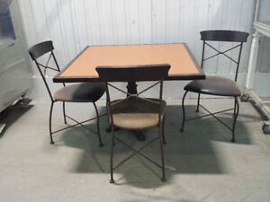 AVAILABLE High Quality 41.7'' x 41.7'' Restaurant Tables Chairs