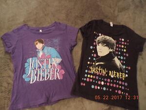 Girl's Size 7/8 Justin Bieber T-Shirts