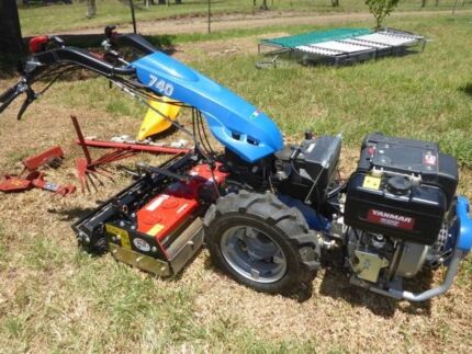 Walk behind tractor BCS 740 diesel electric start with implements