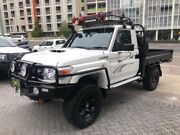 2012 Toyota Landcruiser VDJ79R MY12 Update Workmate (4x4) White 5 Speed Manual Cab Chassis North Strathfield Canada Bay Area Preview
