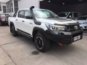 2018 Toyota Hilux GUN126R Rugged X Double Cab White 6 Speed Sports Automatic Utility Colac Colac-Otway Area Preview