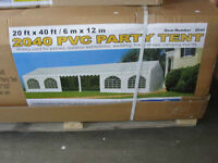 """Brand new 20"""" by 40"""" pvc party tent $2000 OBO"""