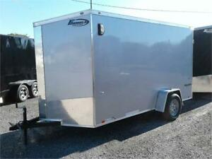 Brand New 7' x 12' - Steel Frame - Enclosed Cargo Trailer