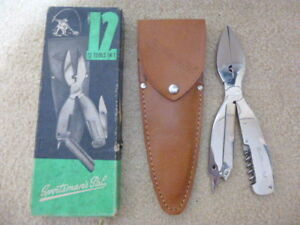 ANTIQUE VINTAGE SPORTSMANS PAL FISHING CAMPING UTILITY KNIFE SET