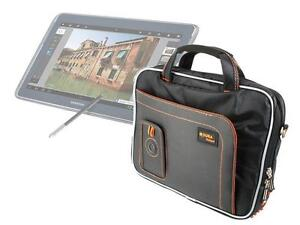 Black Tab Case For Samsung Galaxy Note 10.1 Tablet With Accessory Compartments