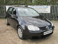 VOLKSWAGEN GOLF 1.9 TDI S 5DR BLACK 2007 (07) ONLY 62K FSH / ONLY TWO OWNERS!!!!
