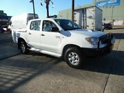 2008 Toyota Hilux KUN26R 08 Upgrade SR (4x4) White 4 Speed Automatic Dual Cab Pick-up Homebush West Strathfield Area Preview