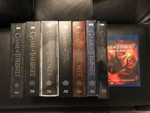 GAME OF THRONES ALL 7 SEASONS ON BLU RAY