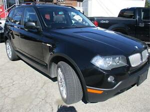 2008 BMW X3 3.0si Black With Panoramic Sun/moon-roof !!!
