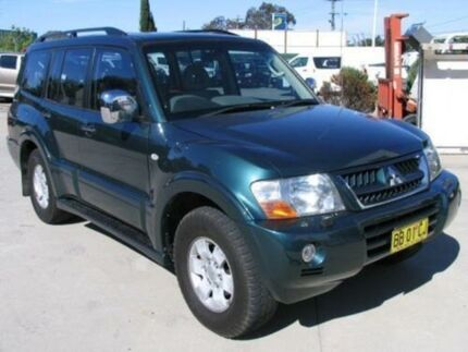 2003 Mitsubishi Pajero NP Exceed LWB (4x4) Forest Green 5 Speed Auto Sports Mode Wagon Lansvale Liverpool Area Preview