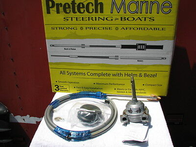 14 Ft 14 Boat Steering Cable Helm Kit Rotary Ssc13714 13714 Pretech Teleflex