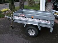 Car Trailer ERKA, 64 ins by 39 ins, load 397 kgs