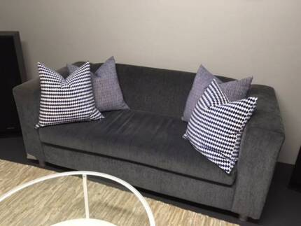 Lounge 2 seater compact charcoal blue gry