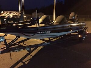 Javelin 18' bass boat with 150 Johnson