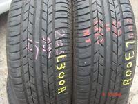 205 55 15 Gislaved, Speed 306V, 87V, x2 A Pair, 5.2mm (450-458 Barking Road,E13 8HJ) Part Worn