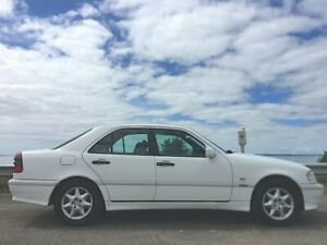 1997 Mercedes-Benz C180 W202 Classic Firn White 5 Speed Automatic Sedan Norlane Geelong City Preview