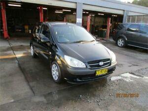 2008 Hyundai Getz TB Upgrade 1.6 SXI Black 5 Speed Manual Hatchback Heatherbrae Port Stephens Area Preview