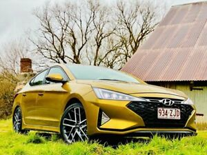 2018 Hyundai Elantra AD.2 MY19 Sport Premium Golden Flash/black 6 Speed Manual Sedan Reynella Morphett Vale Area Preview