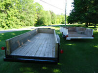 TWO UTILIY TRAILERS FOR SALE