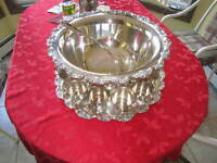 TOWLE SILVER PUNCH BOWL SET